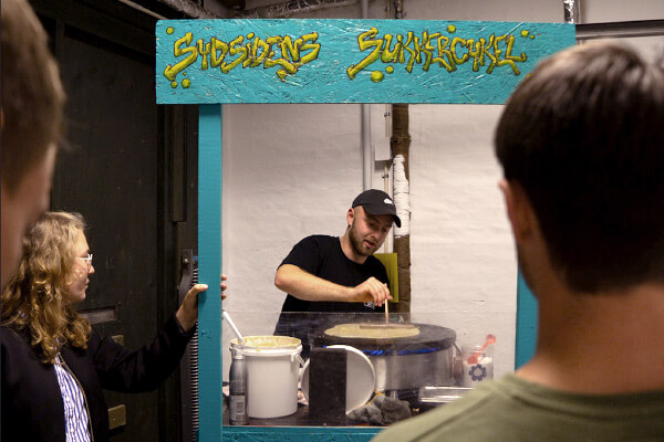 Der bliver lavet pandekager på Sydsidens Sukkercykel Foto: Willmedia ApS