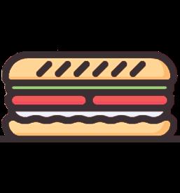 Vi tilbyder sandwicher når du booker mødelokalet i Remisen Næstved