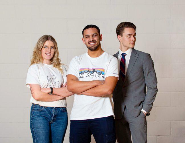 Vores Young Advisory Board bestående af Theis Henriksen, Isak Avdo og Julie Spuhr.